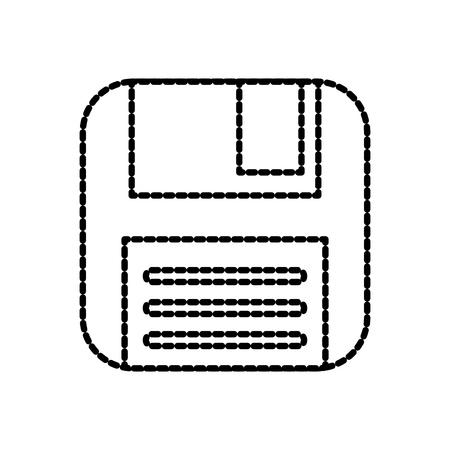 디스켓 백업 저장 정보 플라스틱 벡터 일러스트 레이션