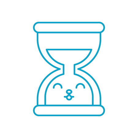 kawaii business time management hourglass cartoon vector illustration