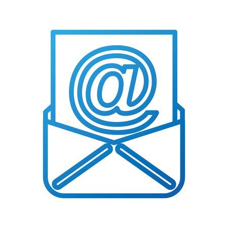 envelop met papieren blad concept van e-mail vectorillustratie Stock Illustratie