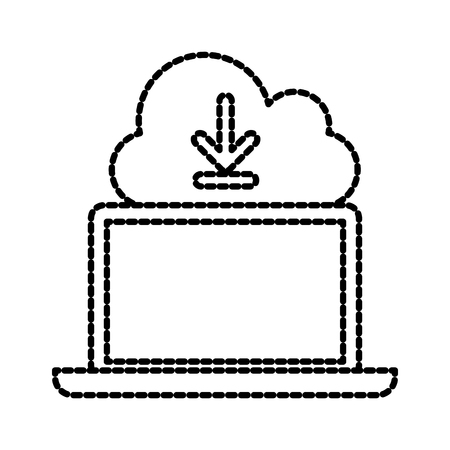 cloud computing download technology storage data vector illustration 向量圖像