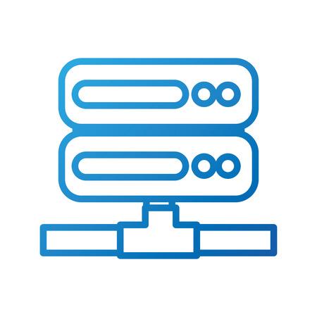 Archivio di dati del computer del rack del server che ospita l'illustrazione di vettore Archivio Fotografico - 86857107