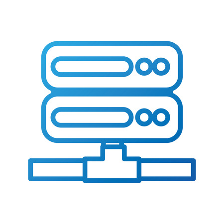 server rack computer data file center hosting vector illustration