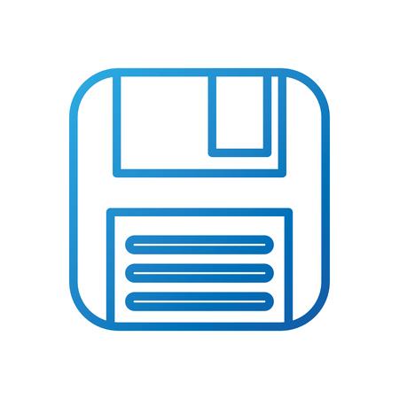 Ilustración de vector de plástico de información de almacenamiento de disquete de copia de seguridad Foto de archivo - 86857111