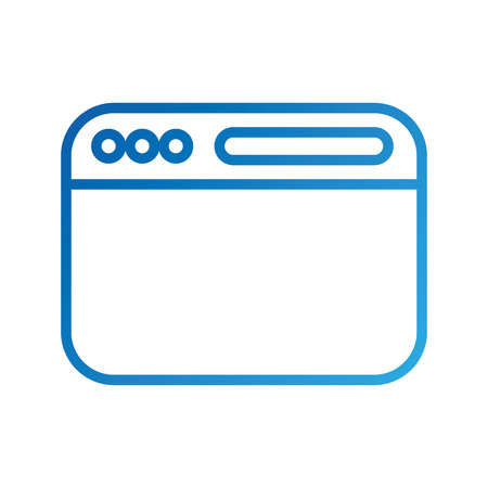 opened website display bar navigation button forward search vector illustration