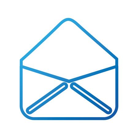 열린 봉투 이메일 가상 웹 애플 리케이션 벡터 일러스트 레이션 일러스트