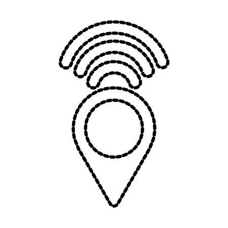 pointer map wireless internet signal navigation vector illustration Illustration