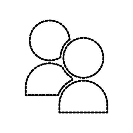 ユーザー グループ ネットワークの人々 コミュニティ メンバー ベクトル図