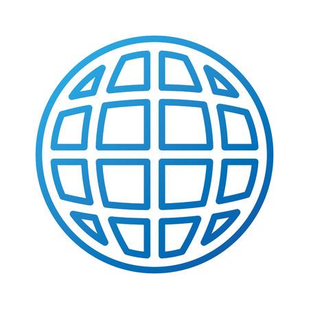 global world connection internet networking vector illustration