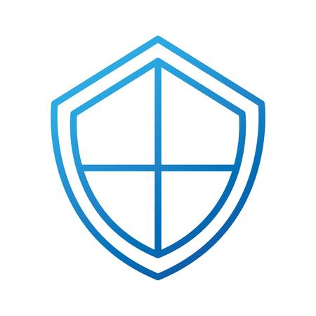shield protection system data web app vector illustration