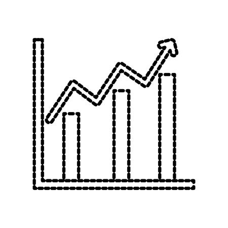 financial growth business chart diagram vector illustration Illustration