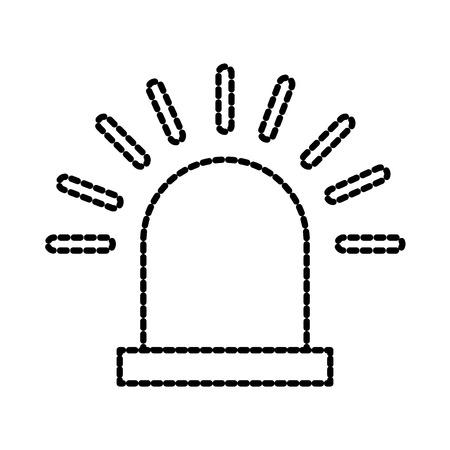 waarschuwingsalarm alarm beveiligingssysteem werk vectorillustratie