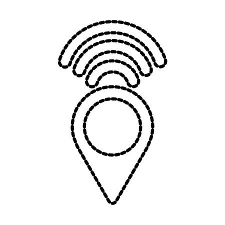 ポインター マップの無線インターネット信号ナビゲーション ベクトル図  イラスト・ベクター素材