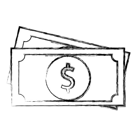 bill money isolated icon vector illustration design