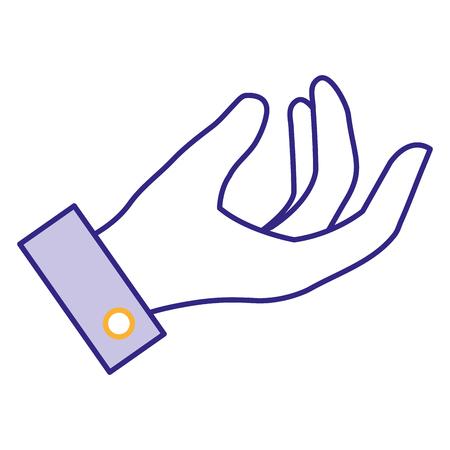 Menselijke hand vangen pictogram vector illustratie ontwerp Stockfoto - 86857720