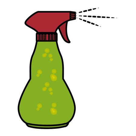Limpiador splash botella lavandero producto ilustración vectorial diseño Foto de archivo - 86857768