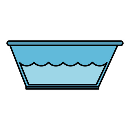 plastic laundry container with water vector illustration design Illustration