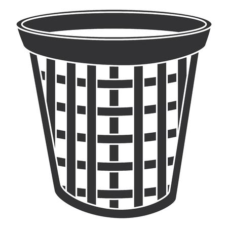 laundry basket isolated icon vector illustration design Çizim