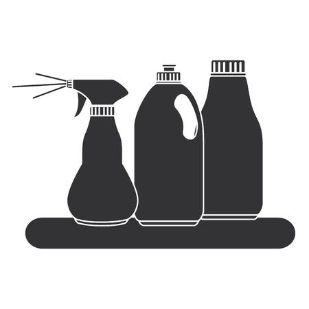 Shelf with laundry products vector illustration design Illusztráció