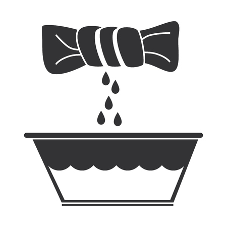 squeeze the clothes icon vector illustration design Ilustracja