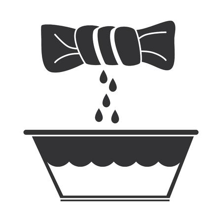 squeeze the clothes icon vector illustration design Ilustração