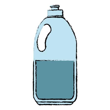 Limpiador botella de productos de lavandería ilustración vectorial diseño Foto de archivo - 86857882