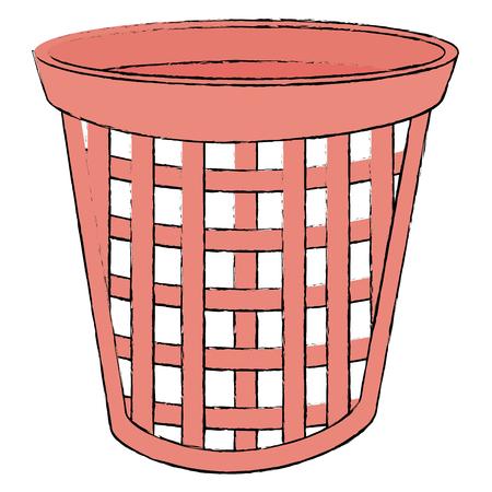 laundry basket isolated icon vector illustration design 向量圖像