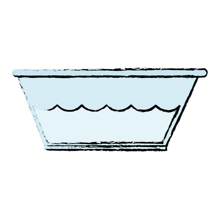 plastic wasbak met water vector illustratie ontwerp