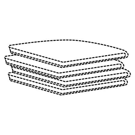 Haufen gefaltete Kleidung Vektor-Illustration Design