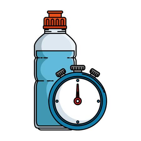 Timer cronometro con disegno illustrazione vettoriale bottiglia Archivio Fotografico - 86926119