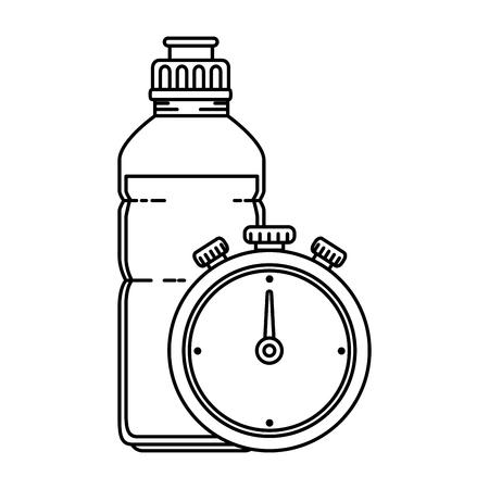 ボトル ベクトル イラスト デザインのクロノメーター タイマー