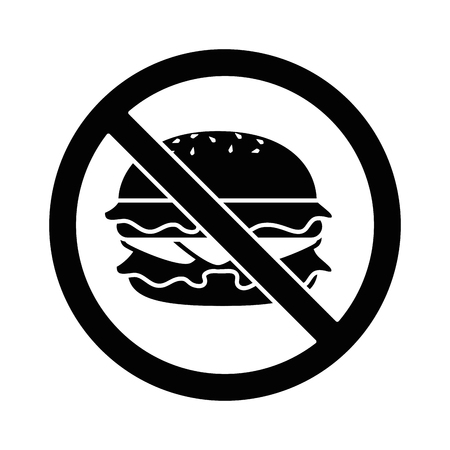 prohibited burger fast food icon vector illustration design Ilustração