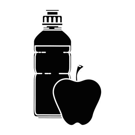 アップル ベクトル イラスト デザイン水筒ジム  イラスト・ベクター素材