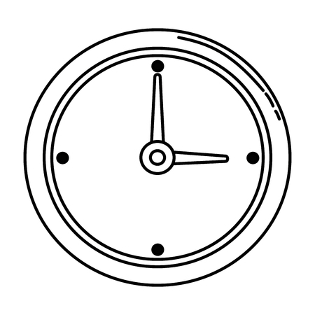 time clock isolated icon vector illustration design Reklamní fotografie - 86926181