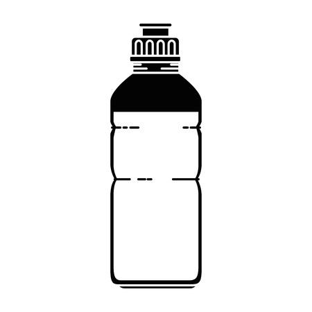 water bottle gym icon vector illustration design