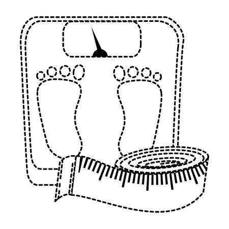 スケール巻尺アイコン ベクトル イラスト デザインと重量
