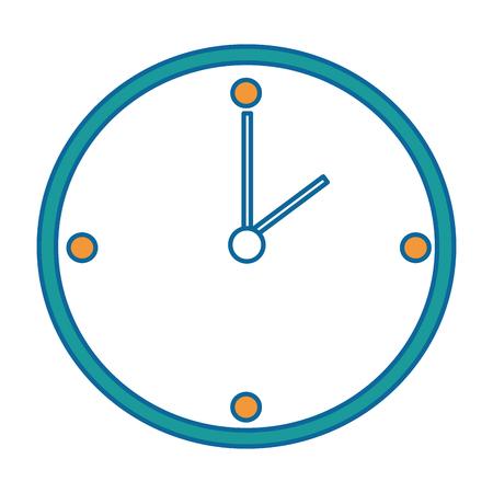 time clock isolated icon vector illustration design Иллюстрация