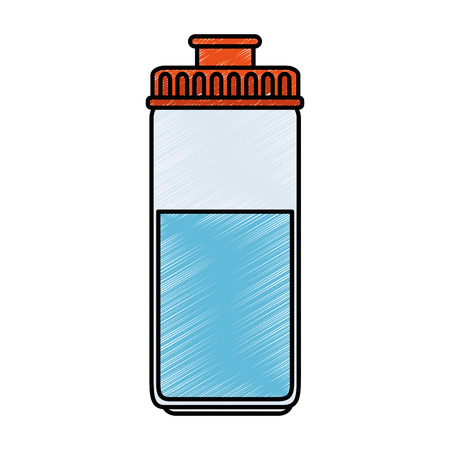 water bottle gym icon vector illustration design
