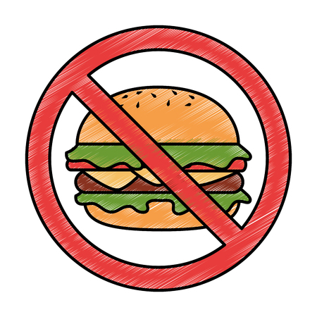 prohibited burger fast food icon vector illustration design Illustration