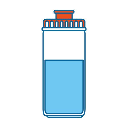 물 병 체육관 아이콘 벡터 일러스트 디자인 일러스트