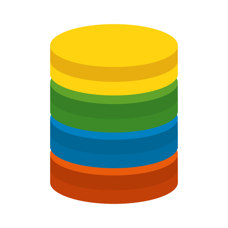 data center disk icon vector illustration design