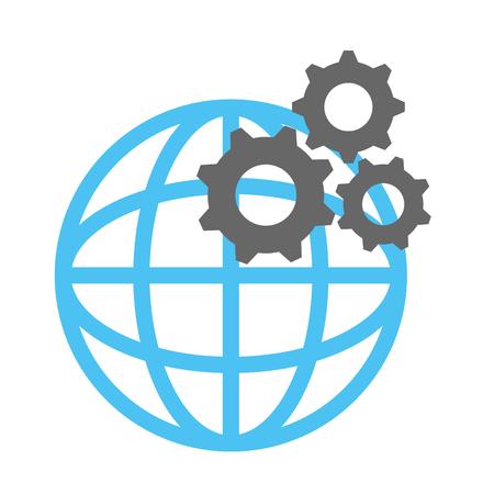 惑星球歯車ベクトル イラスト デザイン  イラスト・ベクター素材