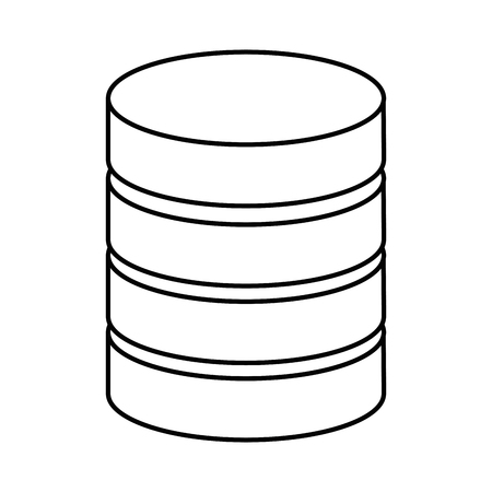 데이터 센터 디스크 아이콘 벡터 일러스트 디자인