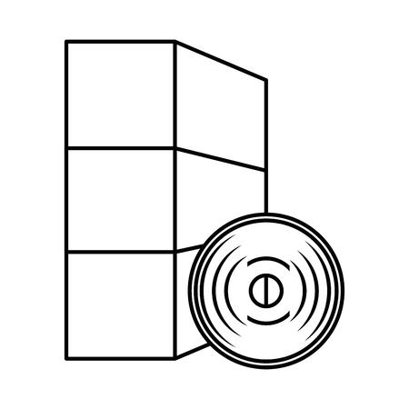 software installation disk and box vector illustration design Illustration