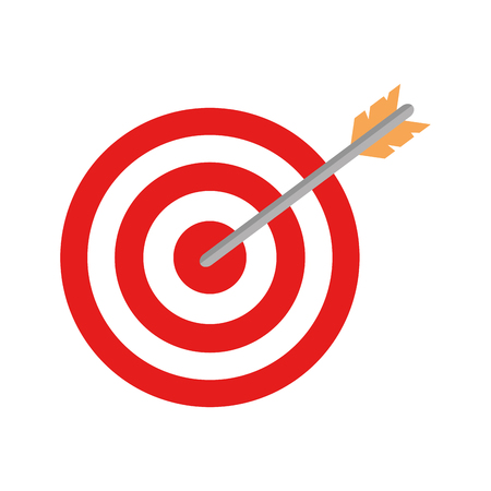 target with arrow icon vector illustration design 일러스트