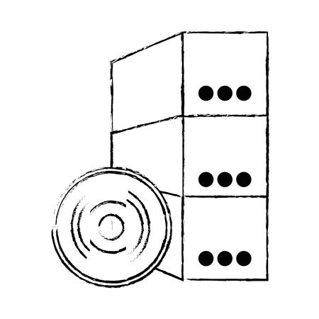 ソフトウェア インストール ディスクとボックス ベクトル イラスト デザイン  イラスト・ベクター素材