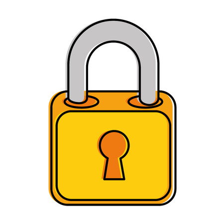safe padlock isolated icon vector illustration design Stock Vector - 86926508
