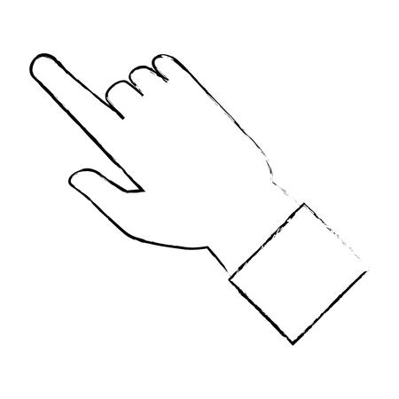 human hand touching icon vector illustration design