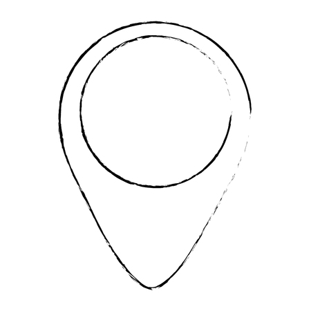 pointer location isolated icon vector illustration design