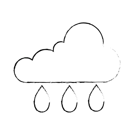 cloud sky with drops vector illustration design Stock Photo