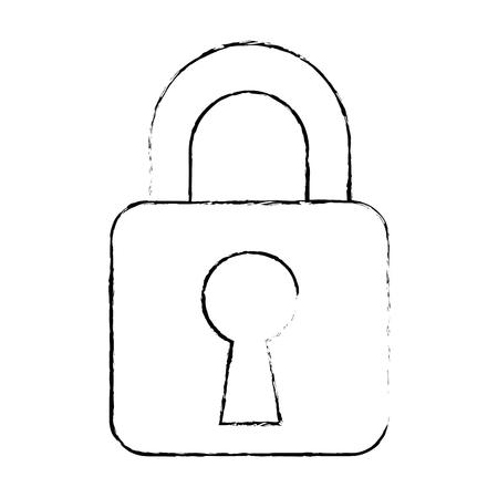 safe padlock isolated icon vector illustration design Stock Photo